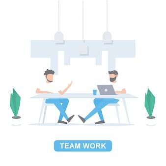 Empresário reunião no escritório