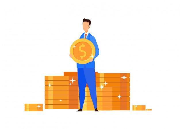 Empresário rico, ilustração vetorial de banqueiro