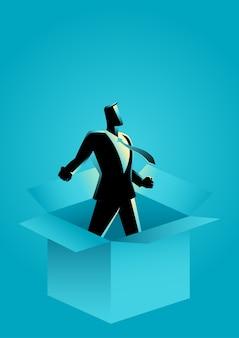 Empresário sai da caixa