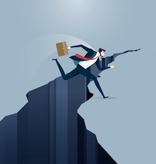 Empresário salta sobre lacuna