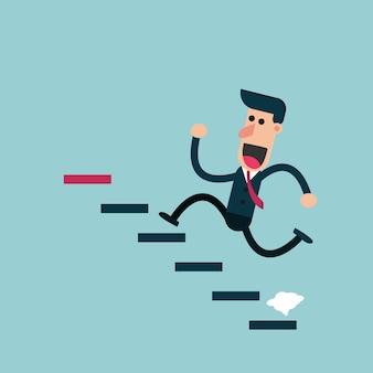 Empresário subindo as escadas