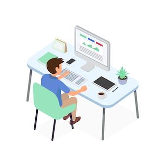 Empresário trabalhando com projeto idéia criativa para analisar a estratégia financeira da empresa