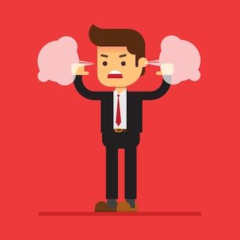 Empresário zangado liberado