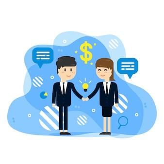 Empresários, apertando as mãos de fundo