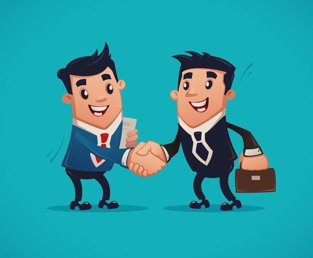 Empresários apertando as mãos