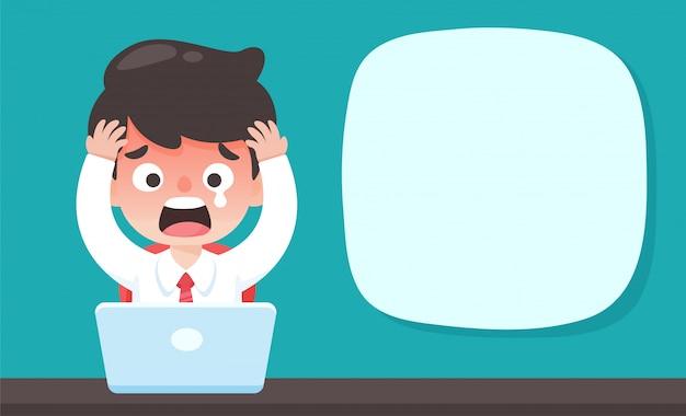 Empresários chocados e afetados pela queda dos estoques durante a epidemia do vírus corona.