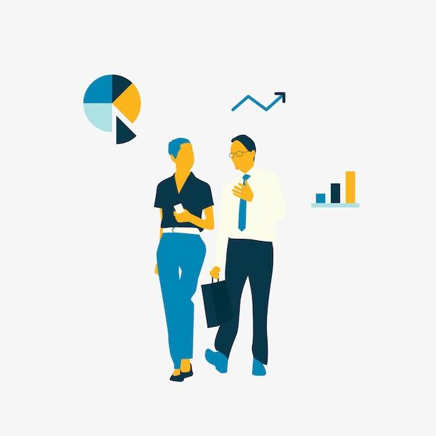 Empresários de avatar ilustrado falando juntos