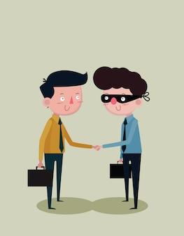 Empresários de mãos dadas