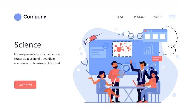 Empresários discutindo estratégia para quarentena. modelo de site ou página de destino