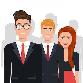 Empresários elegantes isolado ícone do design