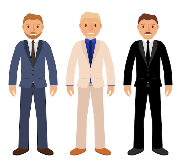 Empresários em trajes de negócios caracteres.