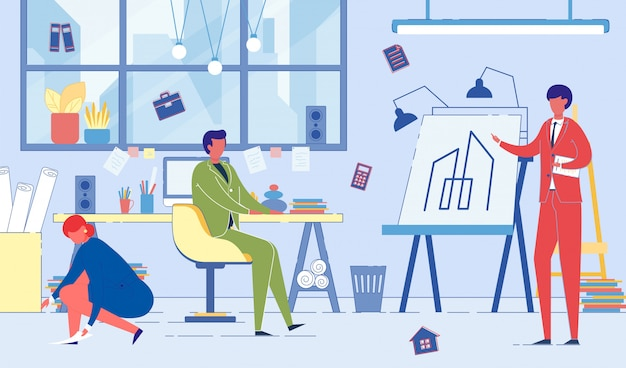 Empresários em uma reunião
