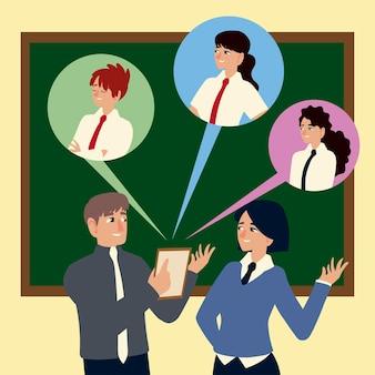 Empresários, empresário e empresária discutindo empregadores de trabalho