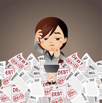 Empresários estressados homem com muita conta