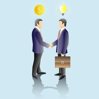 Empresários fazendo uma ilustração de acordo