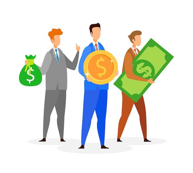 Empresários na ilustração em vetor plana ternos