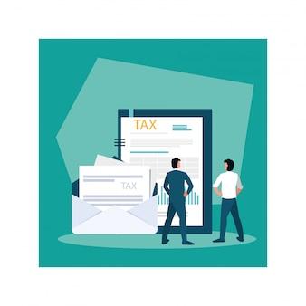 Empresários no dia do imposto