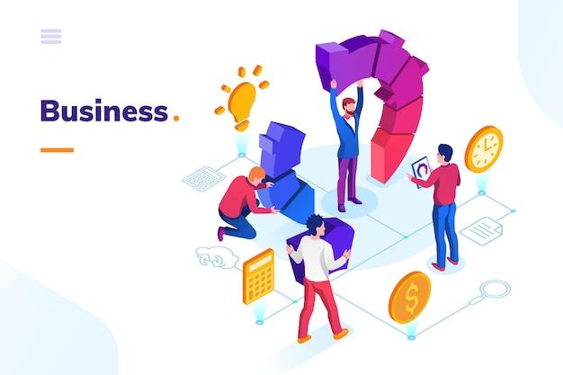Empresários no escritório fazendo trabalho