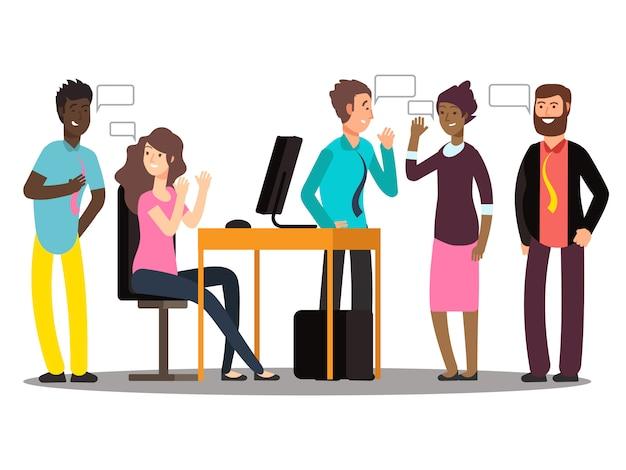 Empresários no trabalho