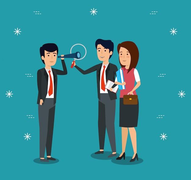 Empresários profissionais que colaboram