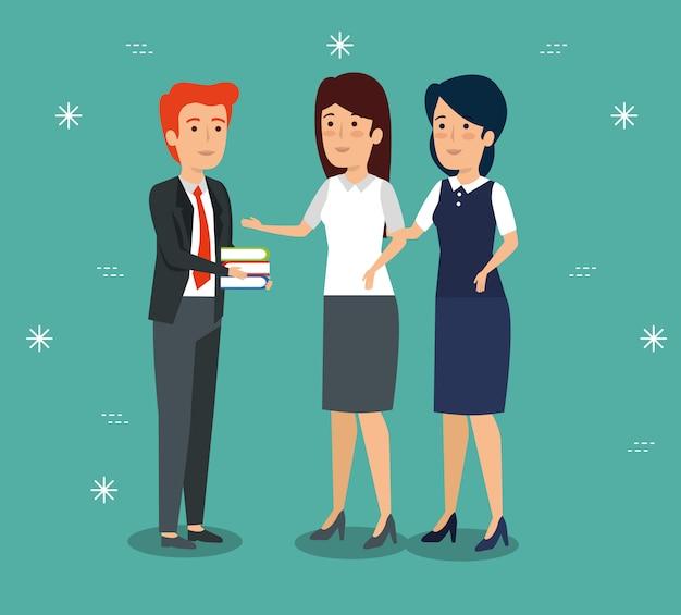 Empresários profissionais trabalhando juntos