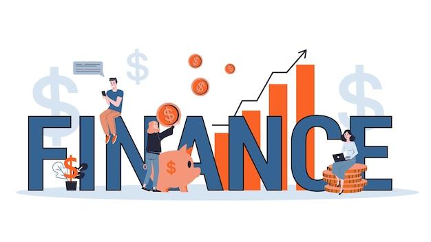 Empresários trabalham com conceito de finanças. ideia de investimento e ganho de dinheiro. capital de negócios. ilustração