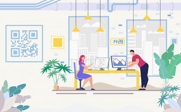 Empresários trabalhando no banner do office