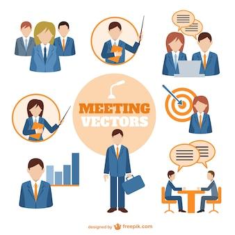 Empresários vetor de reunião