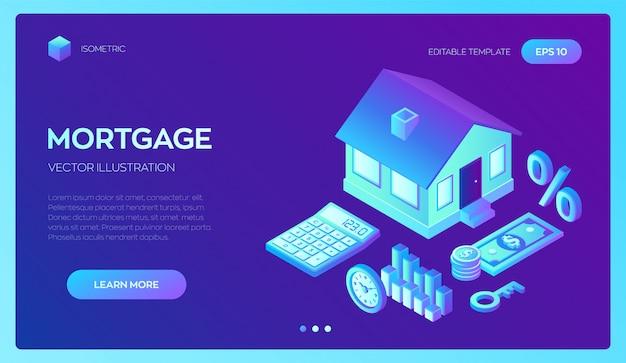 Empréstimo à habitação ou investimento em dinheiro para imóveis.