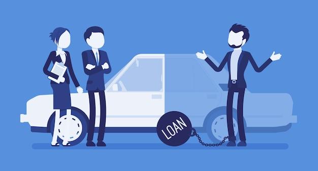 Empréstimo de carro em atraso