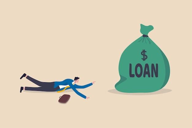 Empréstimo em condições favoráveis a empreendedor para continuar os negócios no impacto da crise econômica