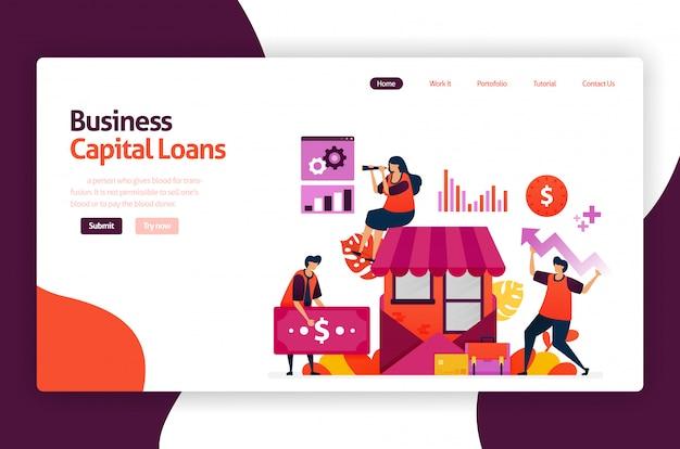 Empréstimos de capital de risco para desenvolvimento e investimento de pme. crédito com juros baixos para jovens empreendedores e empresas iniciantes.