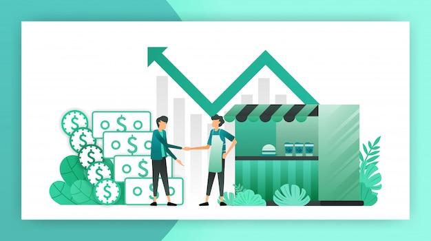 Empréstimos para pequenas empresas