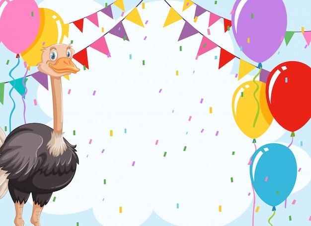 Emu cartão de invitiaion celebração