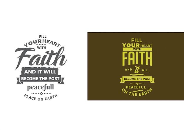 Encha seu coração com frase de fé