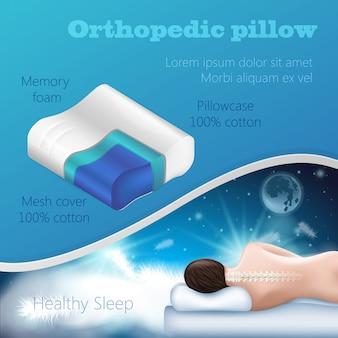 Enchimento travesseiro ortopédico.
