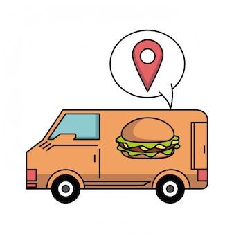 Encomenda de fast food e entrega online