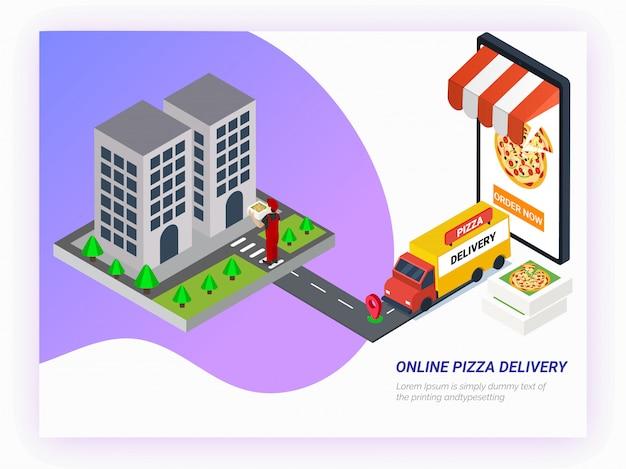 Encomende comida online a partir da aplicação do smartphone.