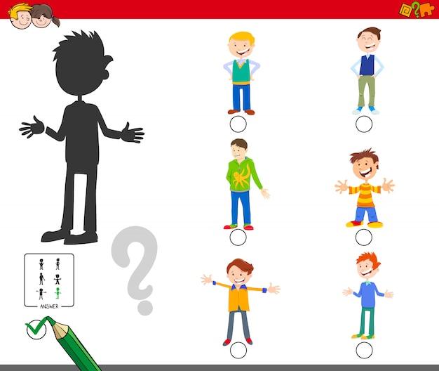 Encontrando o jogo educacional da sombra certa para crianças