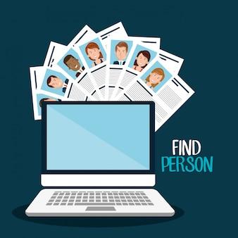 Encontrar design de pessoa