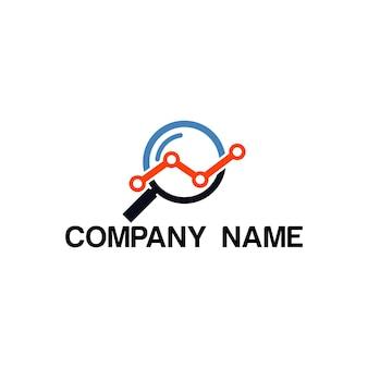 Encontrar modelo de design de empresa de logotipo de estatísticas