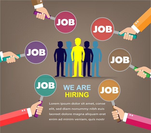 Encontrar um emprego, estamos contratando