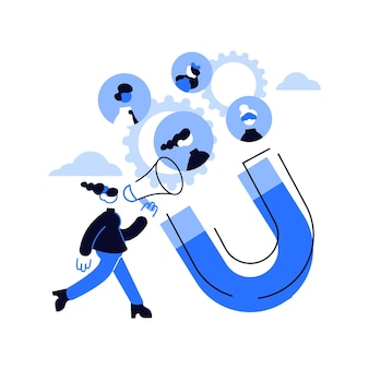 Encontre a ilustração do conceito abstrato de ligações. gerar vendas