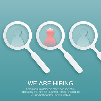 Encontre a pessoa certa. escolhendo as pessoas talentosas para contratação.