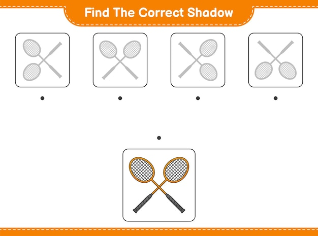 Encontre a sombra correta encontre e combine a sombra correta das raquetes de badminton