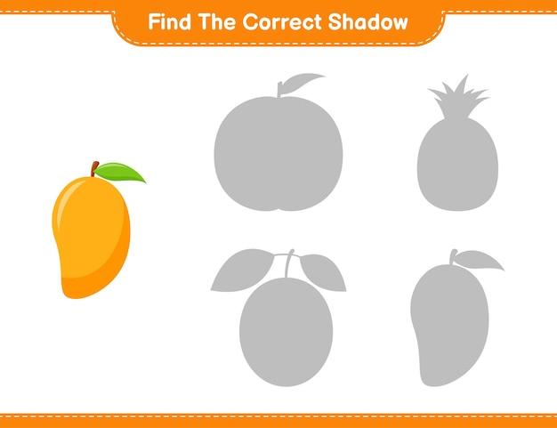 Encontre a sombra correta. encontre e combine a sombra correta de manga. jogo educativo para crianças, planilha para impressão