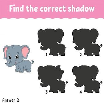 Encontre a sombra correta.