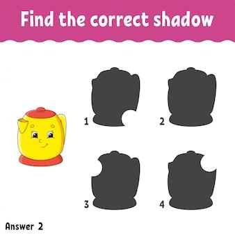 Encontre as atividades infantis de sombra corretas