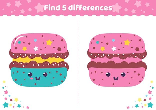 Encontre as diferenças da página de atividades