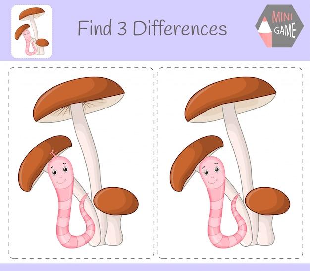 Encontre as diferenças, jogo infantil